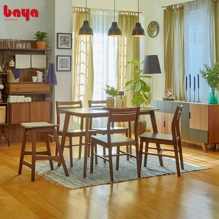 Bộ bàn ăn từ gỗ tự nhiên