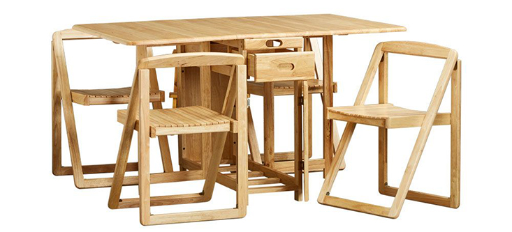 Bộ bàn ăn 4 ghế BIANCA được thiết kế thông minh