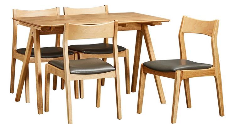 Bộ bàn ăn 4 ghế BRAVEN