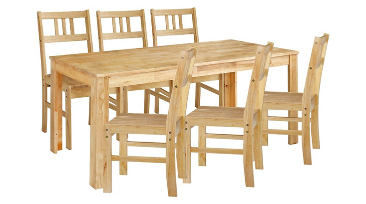 Bộ bàn ăn 6 ghế QATAR mộc mạc