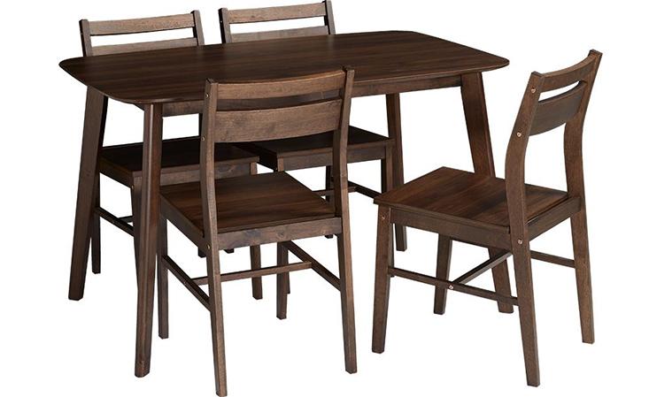 Màu nâu thẫm của bộ bàn ăn 4 ghế PALL MALL