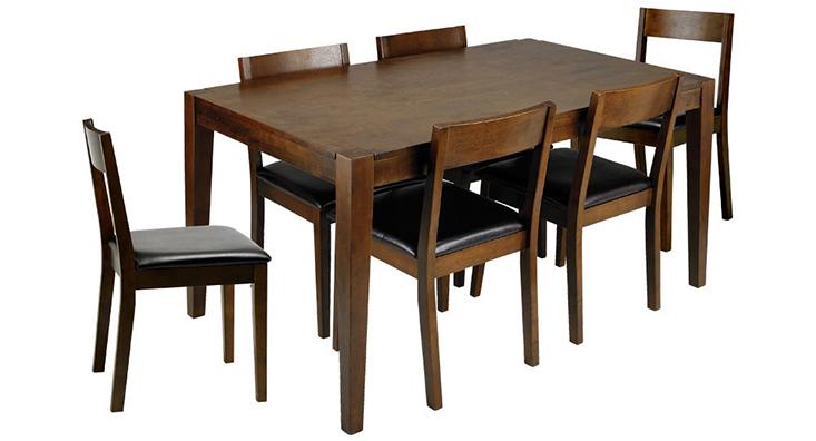 Bộ bàn & 6 ghế ăn KITKA