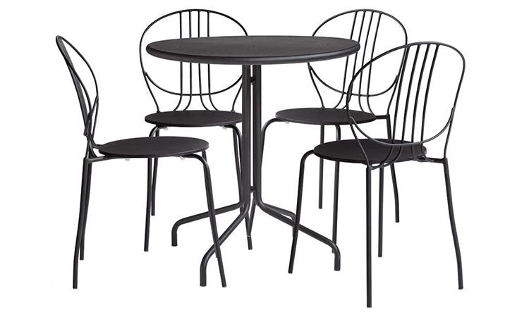Bộ bàn ăn 4 ghế CAFE ROYALE màu đen