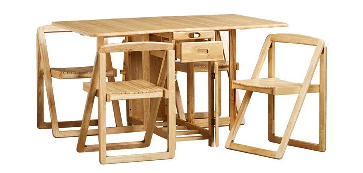 Bộ bàn ăn 4 ghế BIANCA từ gỗ cao su