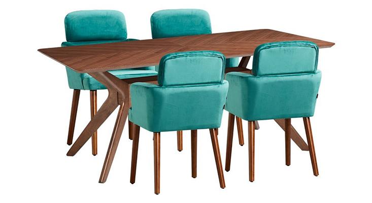 Bộ bàn PRINCETON & 4 ghế ăn CONNEMARA