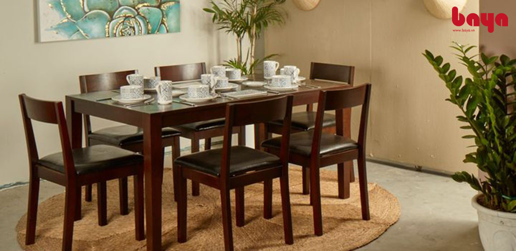 Bộ bàn & 6 ghế ăn