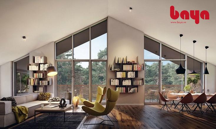 Ghế bành màu vàng khiến cho không gian phòng khách tiện nghi hơn