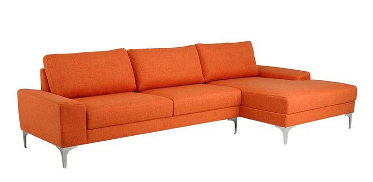 Sofa màu cam tươi mới