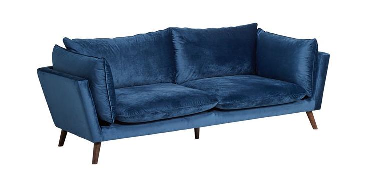 Ghế sofa màu xanh dương mịn màng