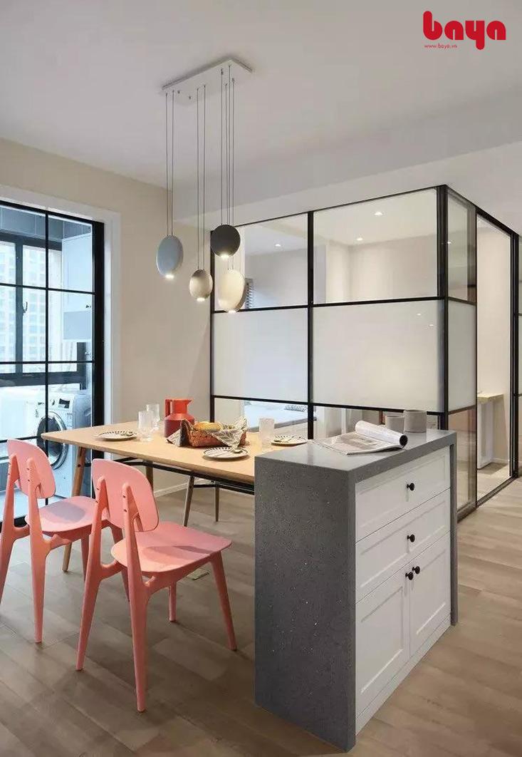 Ghế ăn hồng cho không gian thêm sáng ra