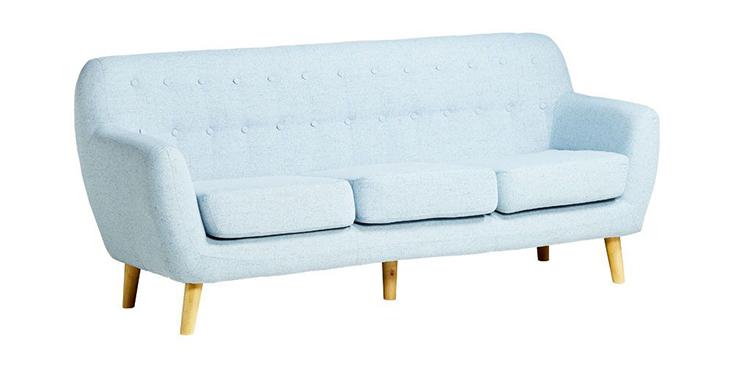 Ghế sofa Simpson 3 chỗ ngồi màu xanh da trời