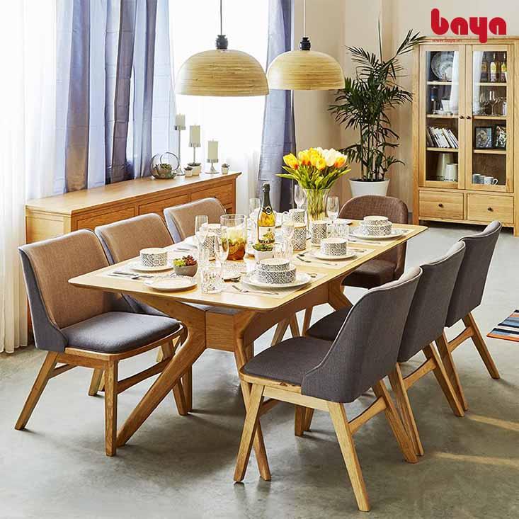 Bộ bàn ăn 6 ghế Princeton màu tím sang trọng