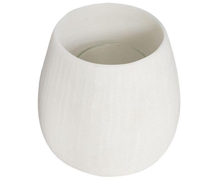 Chân nến trà MASAI hình trụ cao màu trắng