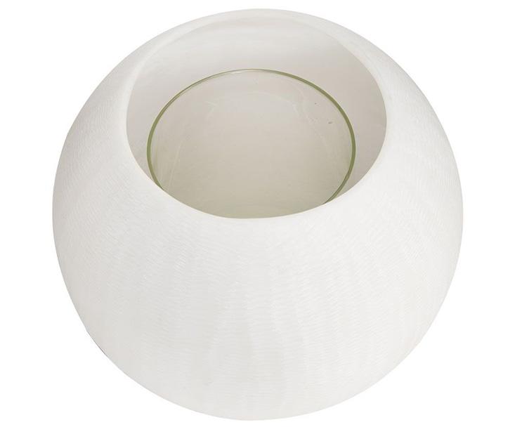 Chân nến MASAI hình trụ tròn màu trắng sang trọng