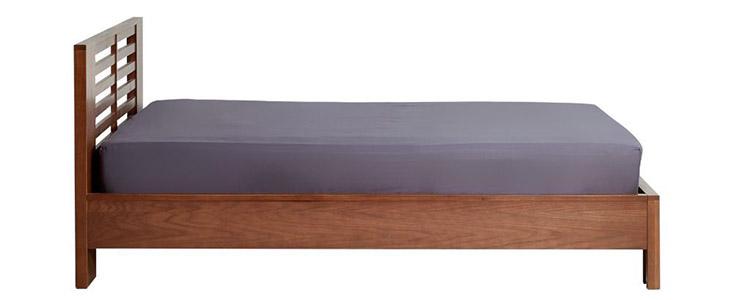 Giường 1m2 ALBANY màu gỗ đậm sang trọng