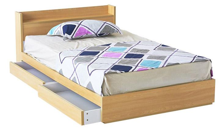 Giường 1m2 Bernie có ngăn kéo chứa đồ