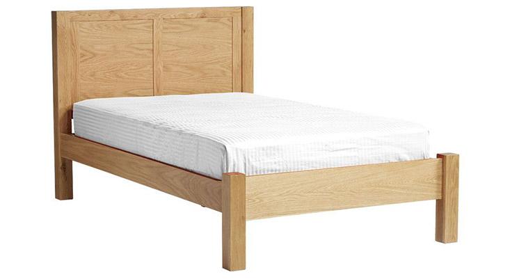 Giường 1m2 Harris làm từ gỗ sồi phủ Veneer chắc chắn