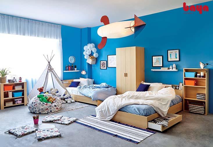 Gối lười hình trụ hoa văn độc đáo cho phòng ngủ