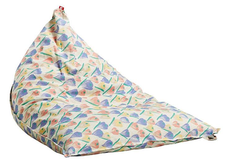 Gối lười Safron hình tam giác hoa văn độc đáo