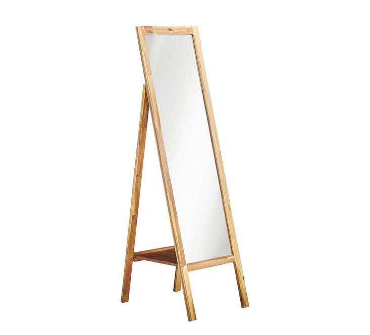 Gương đúng Guardia khung gỗ màu nâu nhạt