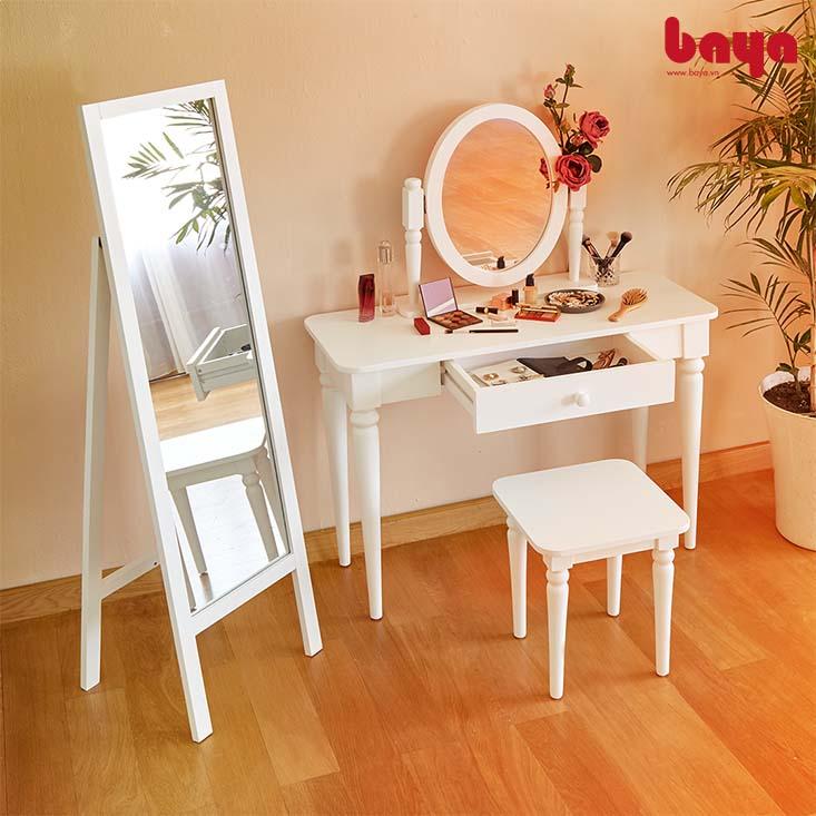 Gương đứng Ann - Louise màu trắng sang trọng