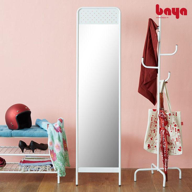 Gương đứng Rebel màu trắng khung sơn tĩnh điện