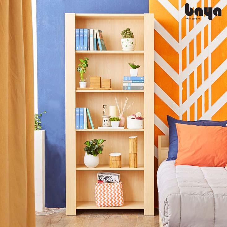 Kệ sách BERNIE màu gỗ sáng hiện đại