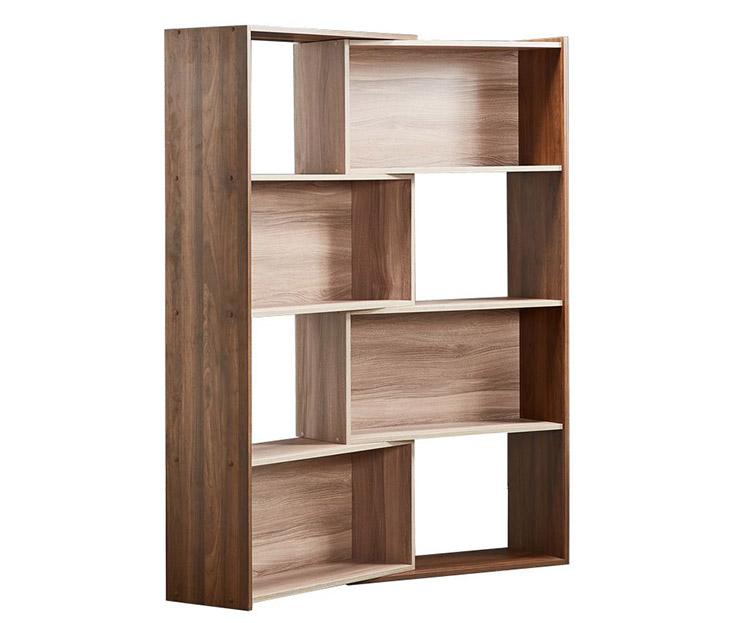 Kệ sách gỗ tự nhiên xoay góc hiện đại