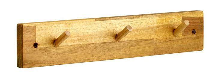 Móc treo đồ Guardia 3 chấu màu gỗ sáng trang nhã
