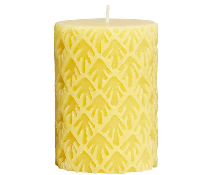 Nến ROMANTICA màu vàng họa tiết độc đáo
