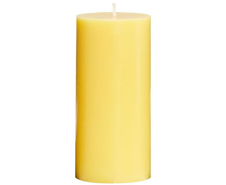 Nến thơm ROMANTICA hình trụ màu vàng trơn