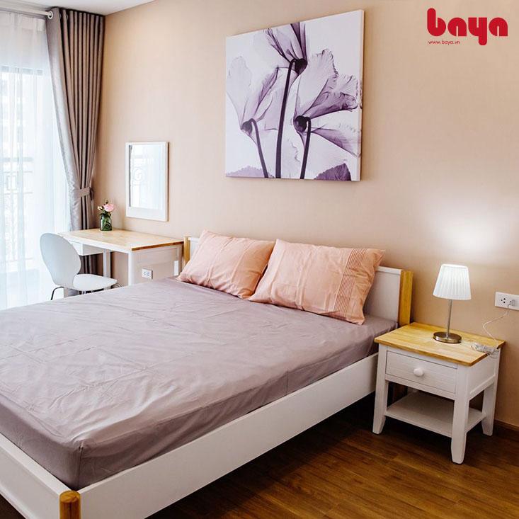 Tủ đầu giường Mozart màu trắng gỗ công nghiệp
