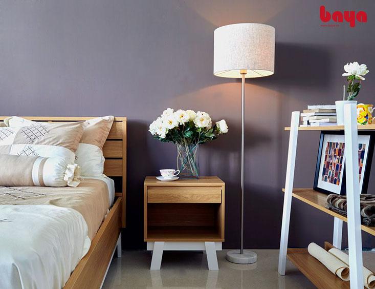 Tủ đầu giường SUECIA gỗ MDF vân gỗ