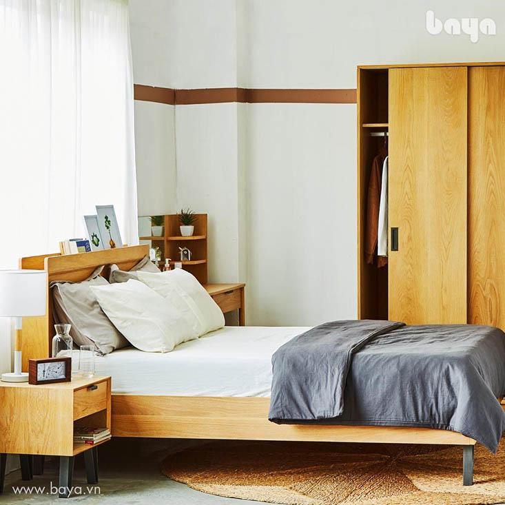 Tủ quần áo và tủ kệ Carnie làm từ gỗ sồi