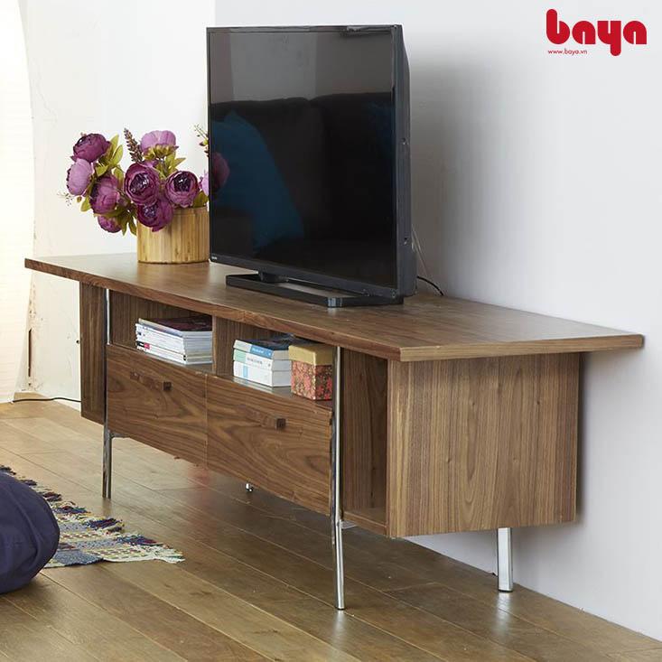 Tủ kệ TV NAPOLI gỗ MDF màu nâu vân gỗ