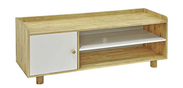 Tủ kệ TV RALLY gỗ cao su màu nâu tinh tế