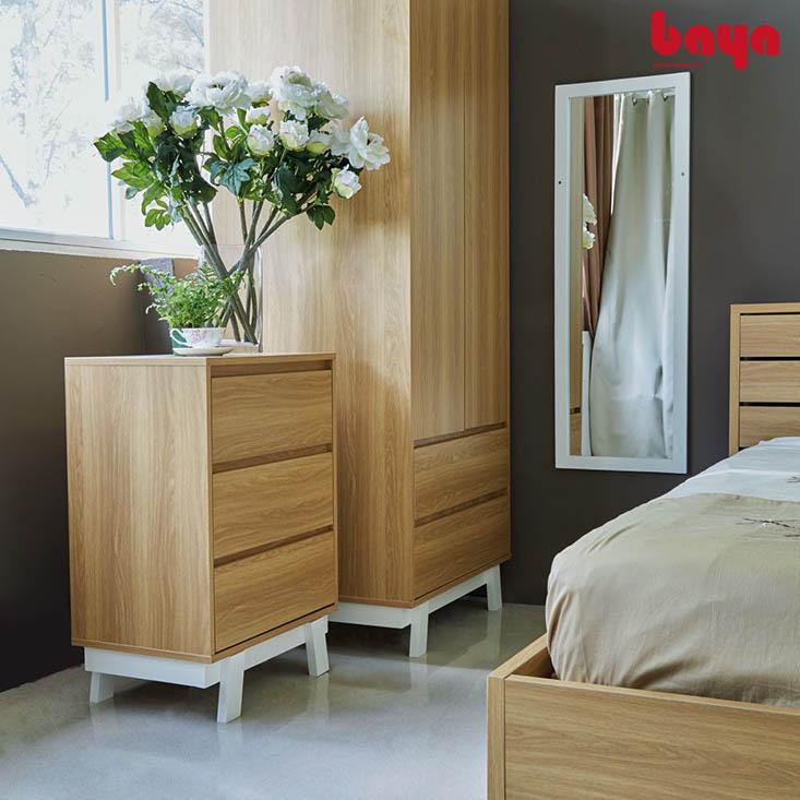 Tủ ngăn kéo SUECIA màu gỗ sáng ấm áp