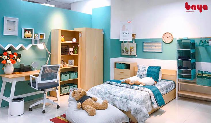 Tủ quần áo kết hợp với các nội thất khác cùng tông màu