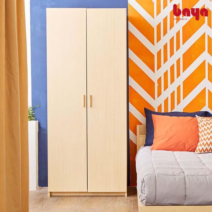 Tủ quần áo 2 cánh phù hợp với diện tích phòng nhỏ