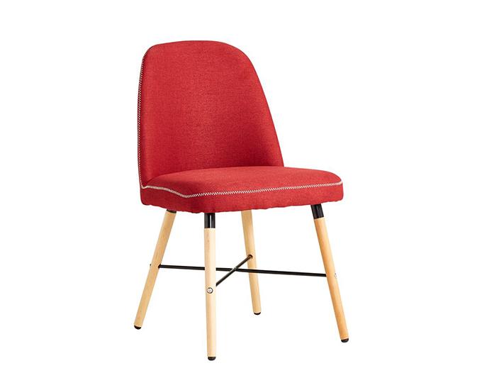 Ghế ăn Johnson bọc vải đỏ