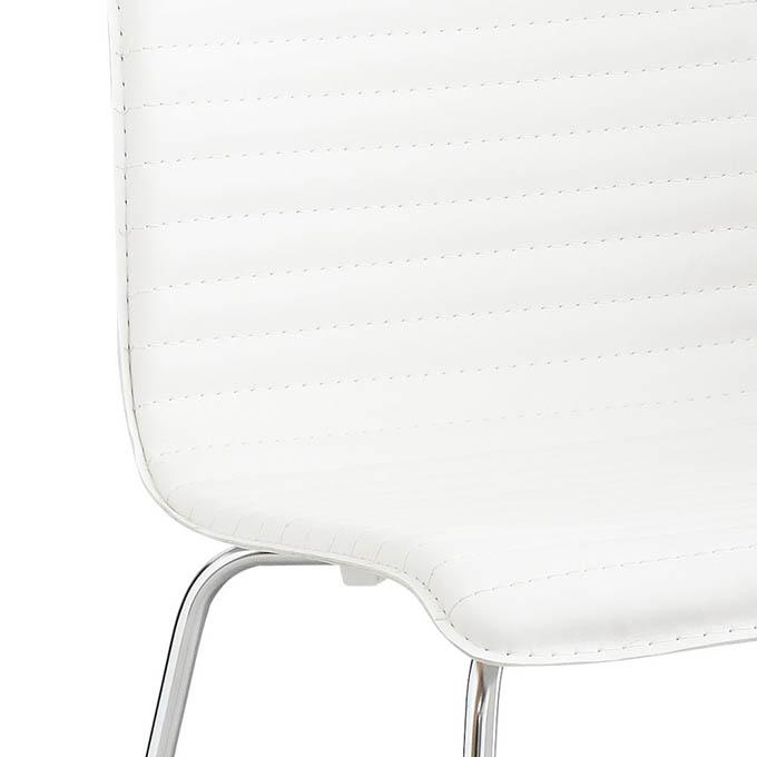 Ghế ăn màu trắng Cossack dùng chất liệu PVC