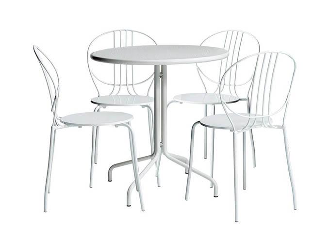 Ghế ăn màu trắng và bàn ăn Royale hiện đại