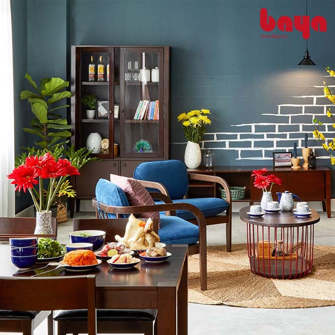 Ghế sofa đơn Hùng Vương khung gỗ nhỏ gọn