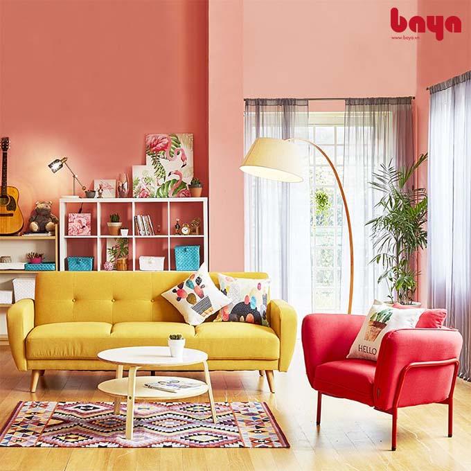 Ghế sofa nỉ Funky màu đỏ cá tính