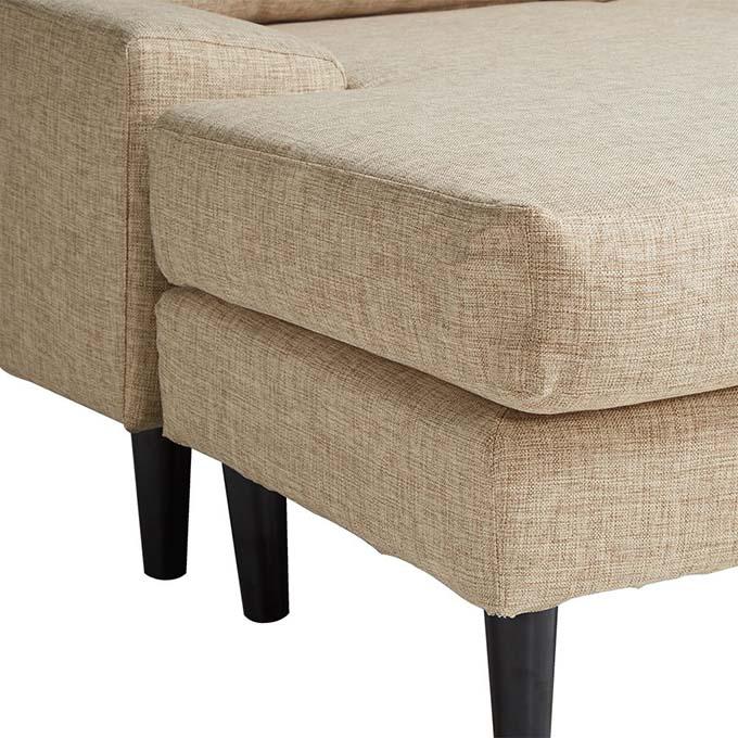 Sofa chữ L Narbonne chân gỗ vững chắc